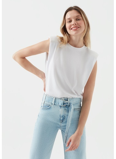 Mavi Kadın  Vatkalı   Tişört 1600246-620 Beyaz